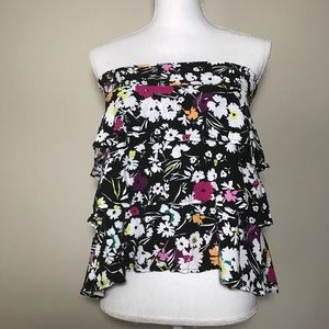 Torrid Layered Ruffle Floral Blouse Size 0